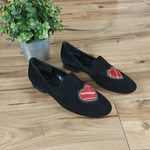 Michael Kors Natasha Heart Sequin Loafer Shoes 7.5